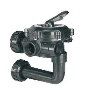 """Válvula selectora lateral 1 1/2"""" con conexión a filtro. Modelo: Flat. Variante 3"""